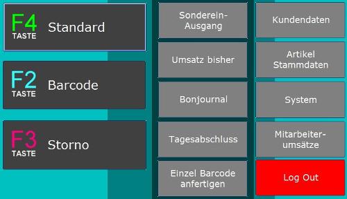 Abbildung Kassensoftware für den Einzelhandel