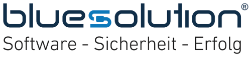 Logo bluesolution software GmbH
